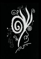 Кристаллическая живопись: картина Жемчуг