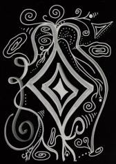 Интегральная живопись: энергетическая линия: серия жидкие кристаллы: Пират (Pirate)