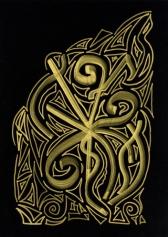 Кристаллическая живопись: Кристаллическая линия: Золото (Gold)
